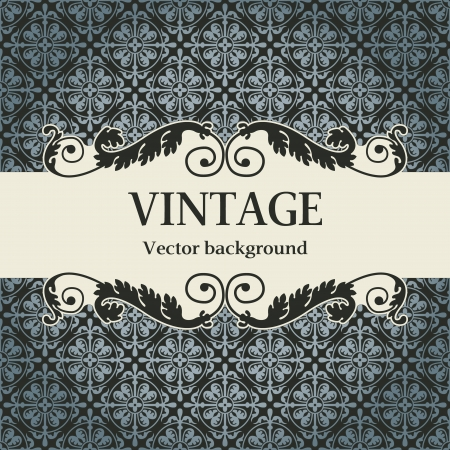 The vector image vintage vector background