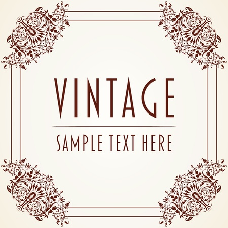 The vector image Decorative Vintage Frame Stock Vector - 16912908