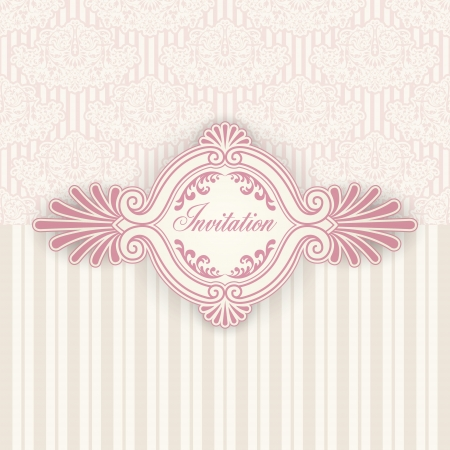 The image of Vintage background for invitations Stock Vector - 16999398