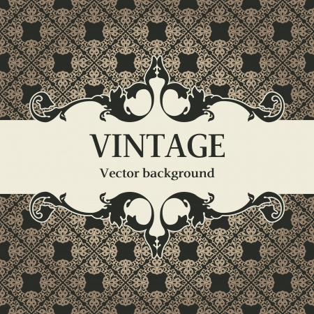 The vector image vintage vector background Vector