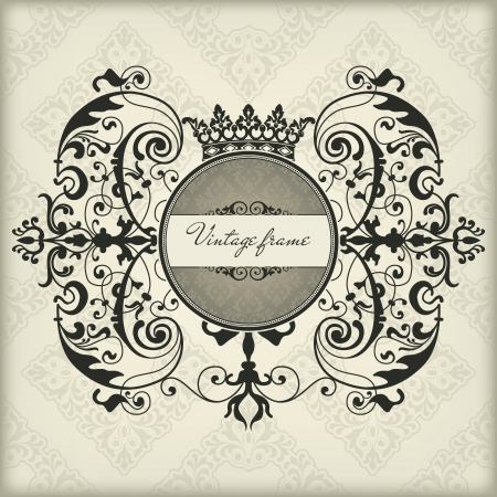 The vector image Vintage frame with crown Stock Vector - 17354477