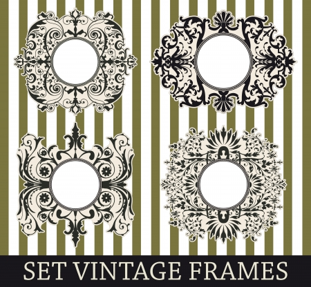 The image Set vintage frames Stock Vector - 17420310