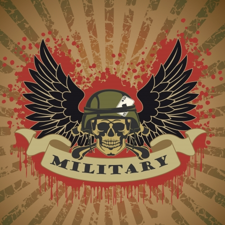 The vector image of color Military symbol Vector