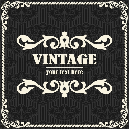 rasterized: The vector image Vector vintage background Illustration