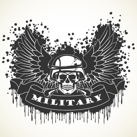 special forces: The vector image of color Military symbol