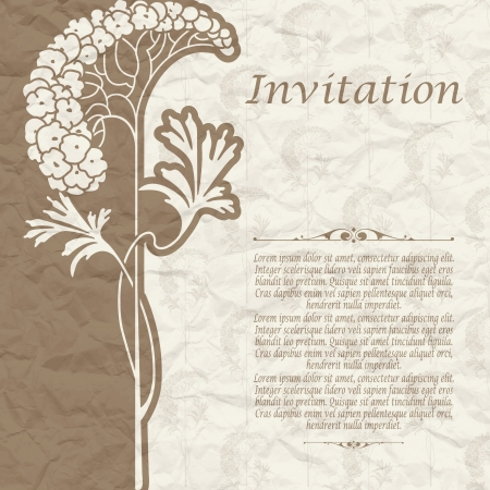 The vector image of Vintage background for the invitation with flowers Stock Vector - 17588914