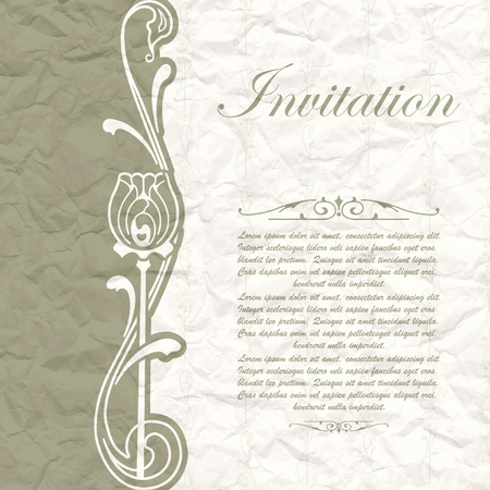 The vector image of Vintage background for the invitation with flowers Stock Vector - 17588917
