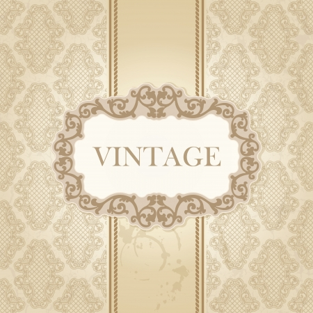 royal wedding: The vector image Vintage frame