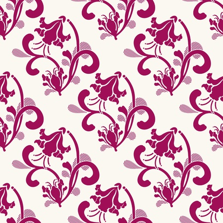 The vector image Vector Seamless Floral Background Illustration