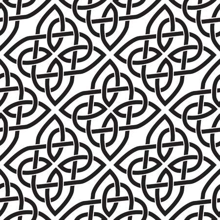 The image Background seamless celtic pattern Vector
