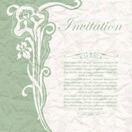 The image of Vintage background for the invitation with flowers Stock Vector - 17949007