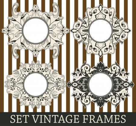 ageing: The vector image Set vintage frames