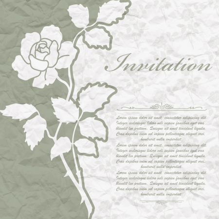 The  image of Vintage background for the invitation with flowers Stock Vector - 18278294