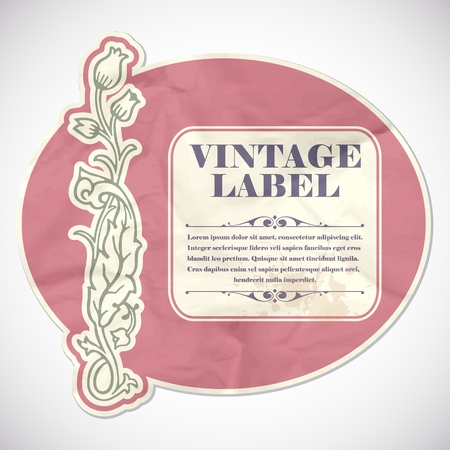 The vector image Vintage label Vector