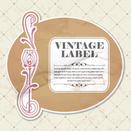 The vector image Vintage label Vector