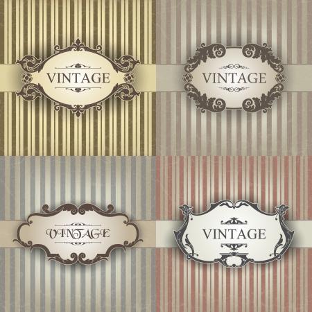 elegant frame: The image Vintage frame Illustration