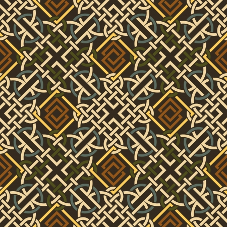The vector image Background seamless celtic pattern Vector