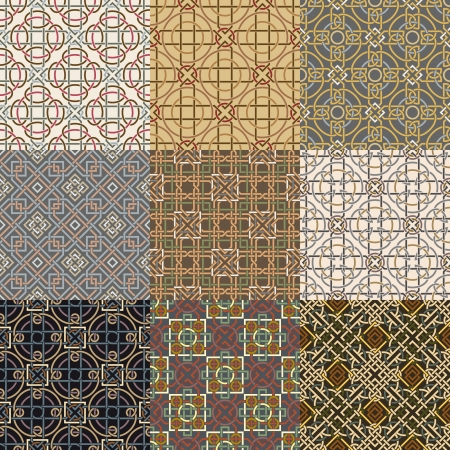 celtic background: The vector image Set of background seamless celtic pattern