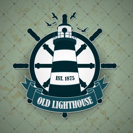 deportes nauticos: La imagen del vector vintage con etiqueta de un tema n?ico