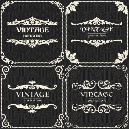 The vector image Set of vector vintage background