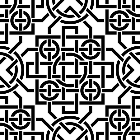 The vector image Celtic seamless pattern Vector