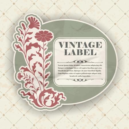distressed paper: The image Vintage label Illustration