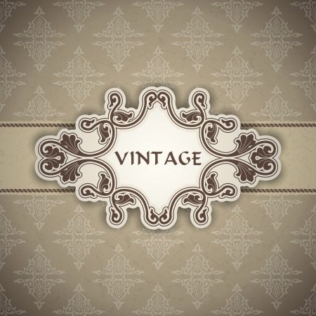 The image Vintage frame Stock Vector - 20004415