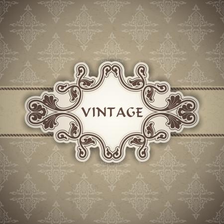 a frame: The image Vintage frame Illustration