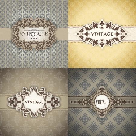 royal wedding: The vector image Set of Vintage frame