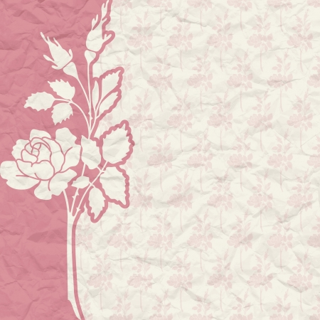 The vector image of Vintage background for the invitation with flowers