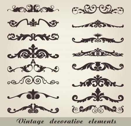 Das Bild der Weinlese dekorative Elemente Standard-Bild - 20694176