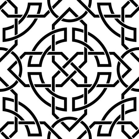De vector afbeelding Keltische naadloze patroon Vector Illustratie