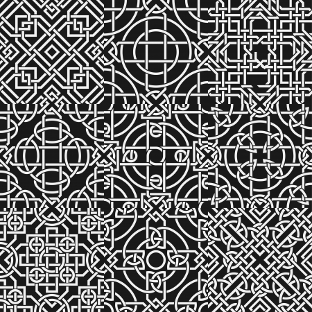 The vector image Set of celtic seamless pattern Vector