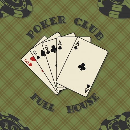 The vector image of Seamless background with poker cards for Vector