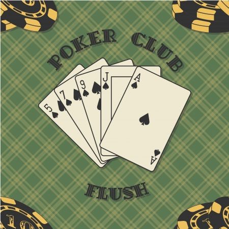 The vector image of Seamless background with poker cards  Vector