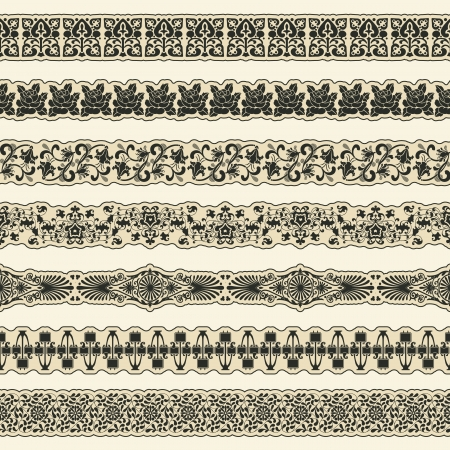 The vector image Vintage border set for design Vector