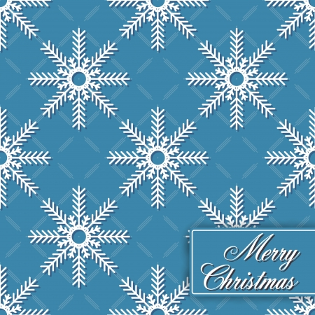 lightweight ornaments: The vector image of Background seamless from snowflakes for Merry Christmas