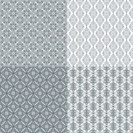 The vector image Set of vector seamless pattern Vector