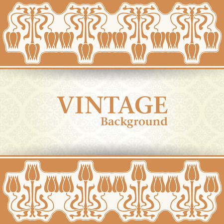 The vector image Vintage background Vector