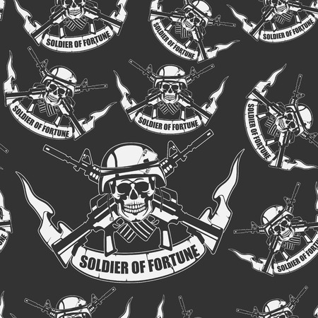 army background: The vector image Army background a Seamless
