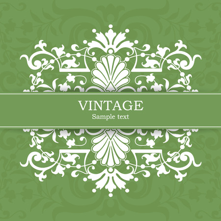 The vector image Vintage invitation card Vector