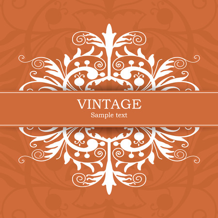 constant:  The vector image Vintage invitation card