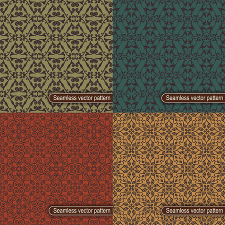 The vector image Set of seamless vector pattern Vector
