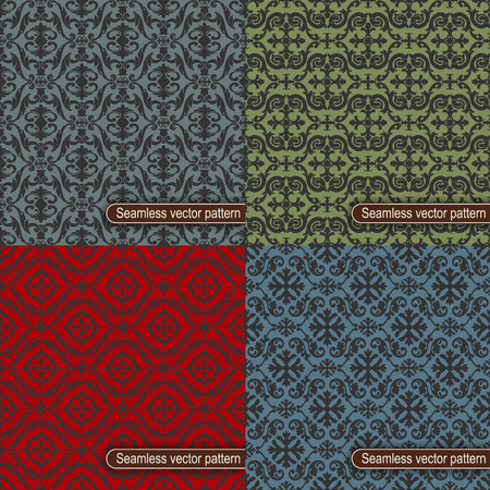 tiles texture: The vector image Set of seamless vector pattern