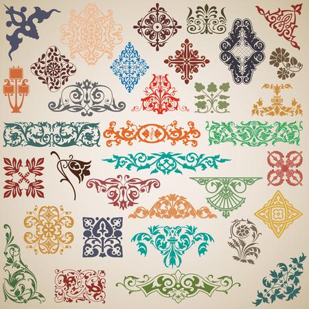 Die Vektor-Bild Dekorative Elemente und Muster in der Vektor- Standard-Bild - 33527303