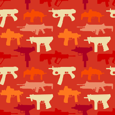 The vector image Background seamless depicting weapons