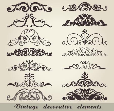 Die Vektor-Bild von Vintage dekorative Elemente Standard-Bild - 37447819