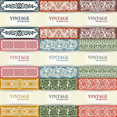 soiled: The vector image Set of vintage background