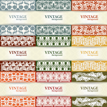 The vector image Set of vintage background Vector