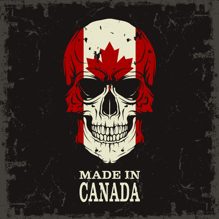 canada flag: The vector image Skull color of the flag Illustration